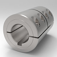 One-Piece Split Clamp-Type Rigid Shaft Couplings with Keyways