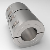 Three-Piece Split Clamp-Type Rigid Shaft Couplings