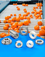 Shaft Collars, Couplings and Mounts for Fruit and Vegetable Processing
