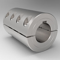 Two-Piece Split Clamp-Type Rigid Shaft Couplings with Keyways - Stainless Steel