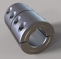Three-Piece Split Clamp-Type Rigid Shaft Couplings with Keyways
