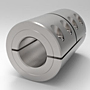 One-Piece Split Clamp-Type Rigid Shaft Couplings - Stainless Steel