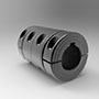 Metric Precision Sleeve Two-Piece Split Coupling with Keyways (5L100100FKPSC)
